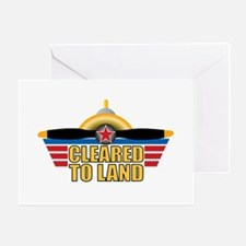Aviation Cleared To Land Greeting Card