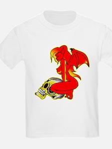 Devil Girl w/ Skull Tattoo 01 T-Shirt