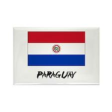 Paraguay Flag Rectangle Magnet