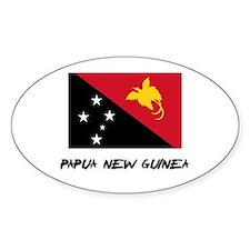 Papua New Guinea Flag Oval Decal