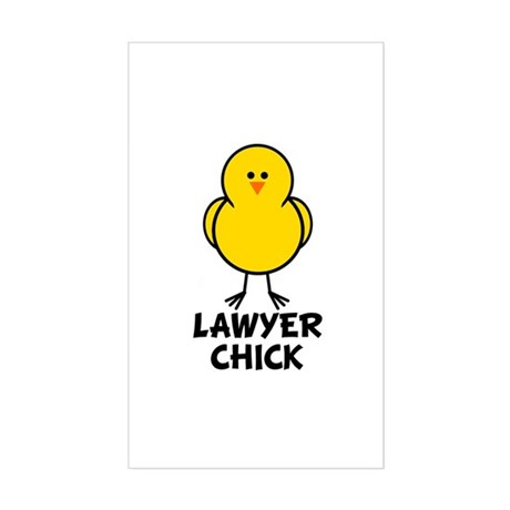 Lawyer Chick Rectangle Sticker