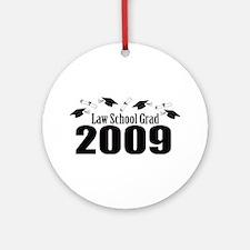 Law School Grad 2009 (Black Caps And Diplomas) Orn