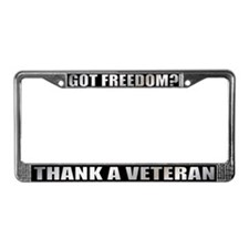 Veteran Got Freedom License Plate Frame
