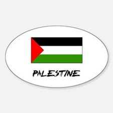 Palestine Flag Oval Decal