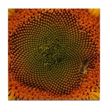 Sunflower with Bee Tile Coaster