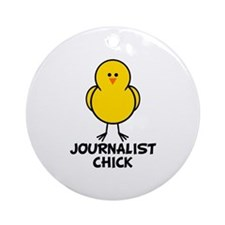 Journalist Chick Ornament (Round)