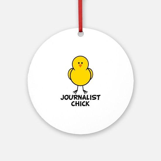 Journalist Chick Ornament (Round)