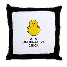 Journalist Chick Throw Pillow