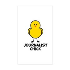 Journalist Chick Rectangle Decal