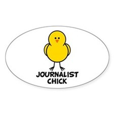 Journalist Chick Oval Decal