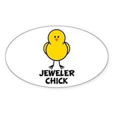 Jeweler Chick Oval Decal