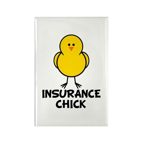 Insurance Chick Rectangle Magnet