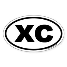 Cross Country XC Euro Oval Bumper Stickers