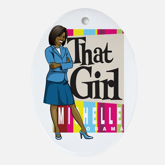 That Girl! Oval Ornament