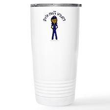 Dark Police Woman Travel Mug