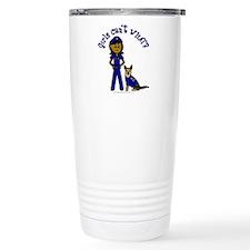 Dark K-9 Police Travel Mug