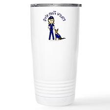 Light K-9 Police Travel Mug