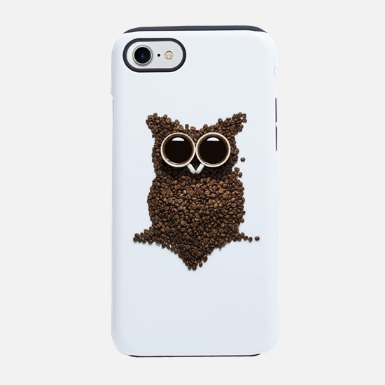 Coffee Owl iPhone 7 Tough Case