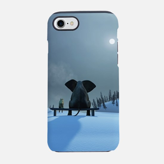 Dog and Elephant Friends iPhone 7 Tough Case