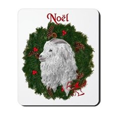 Angora Goat Noel Mousepad