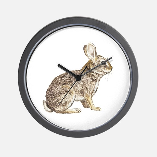 Cottontail Rabbit Wall Clock