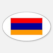Armenia Armenian Blank Flag Oval Decal