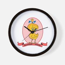 Scottish Chick Wall Clock