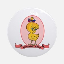 Slovakian Chick Ornament (Round)