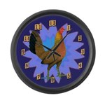 Game Hen Large Wall Clock