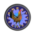 Game Hen Wall Clock