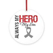 Brain Cancer Hero Son Ornament (Round)