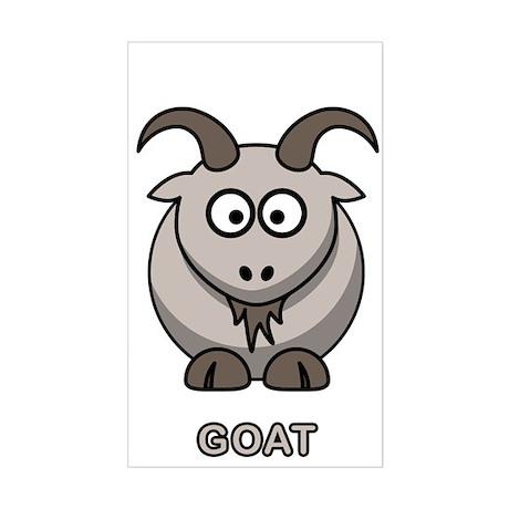 Cartoon Goat Rectangle Sticker