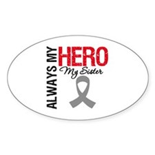 Brain Cancer Hero Sister Oval Decal