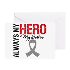 Brain Cancer Hero Sister Greeting Card