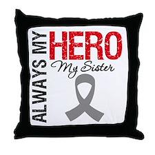 Brain Cancer Hero Sister Throw Pillow