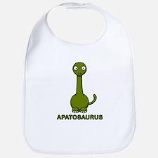 Cartoon Apatosaurus Bib