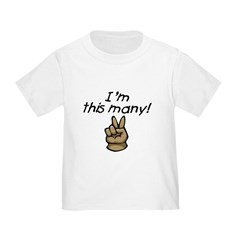 I'm This Many Age Two Toddler Tee