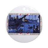 Boston tea party Round Ornaments