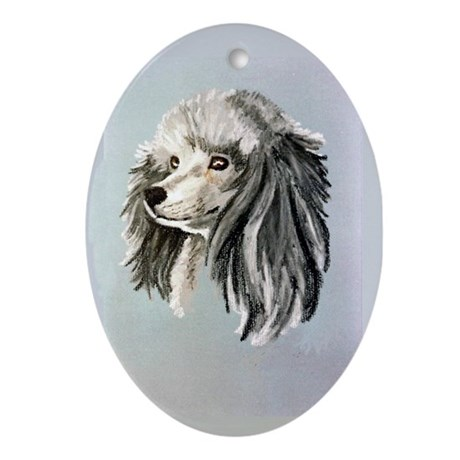 Poodle Oval Ornament