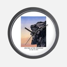 Old Man of the Mountain at Dusk Wall Clock