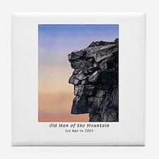 Old Man of the Mountain Dusk Tile Coaster