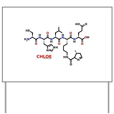 Chloe name molecule Yard Sign