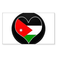 I love Jordan Flag Rectangle Decal