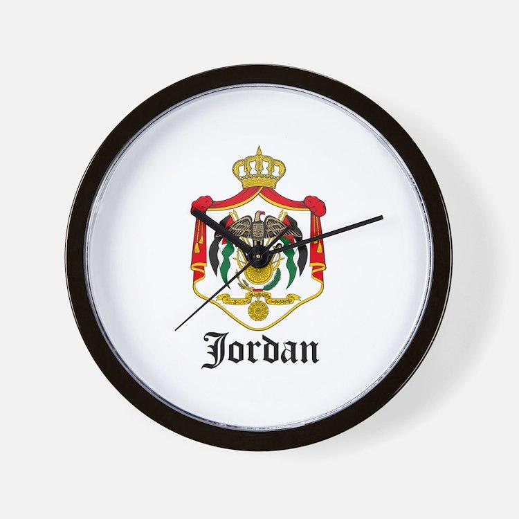 Jordanian Coat of Arms Seal Wall Clock