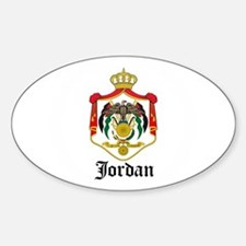 Jordanian Coat of Arms Seal Oval Decal