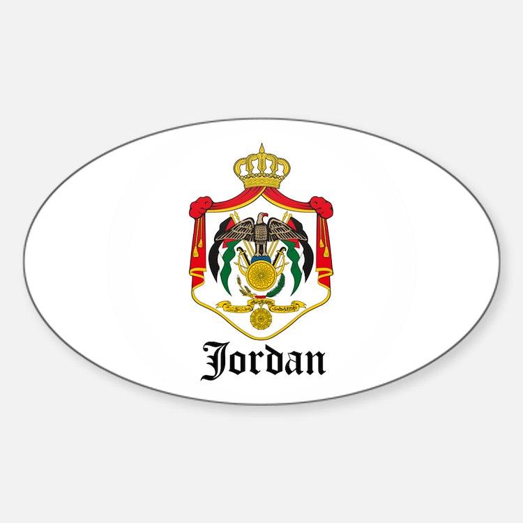 Jordanian Coat of Arms Seal Oval Decal