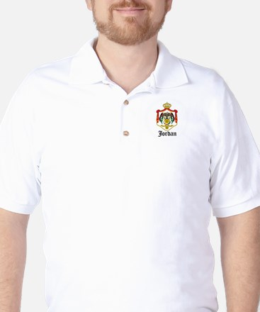 Jordanian Coat of Arms Seal Golf Shirt