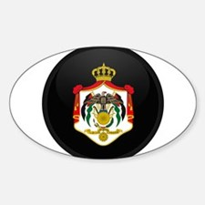 Coat of Arms of Jordan Oval Decal