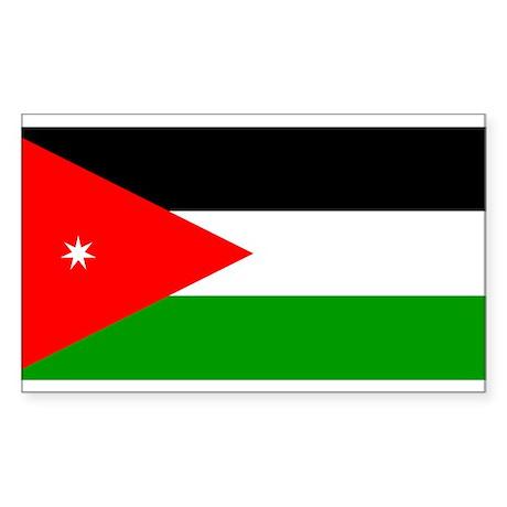 Jordan Flag Rectangle Sticker
