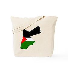 Jordan Flag Map Tote Bag
